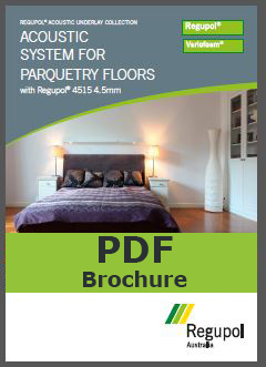 Acoustic Underlay 4515 4.5mm for parquetry flooring