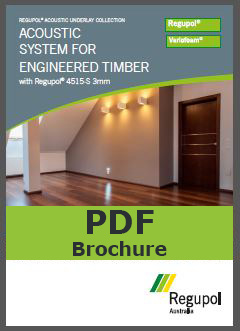 Regupol acoustic for engineered timber
