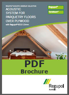 6010 10mm parquetry acoustic underlay