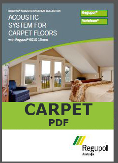 6010 15mm Acoustic Underlay for Carpet