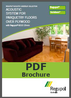 6010 15mm parquetry Regupol acoustic underlay