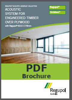 6010 17-8mm engineered timber coustic underlay