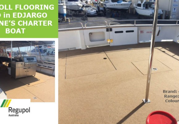Everroll Flooring used in Charter Boat