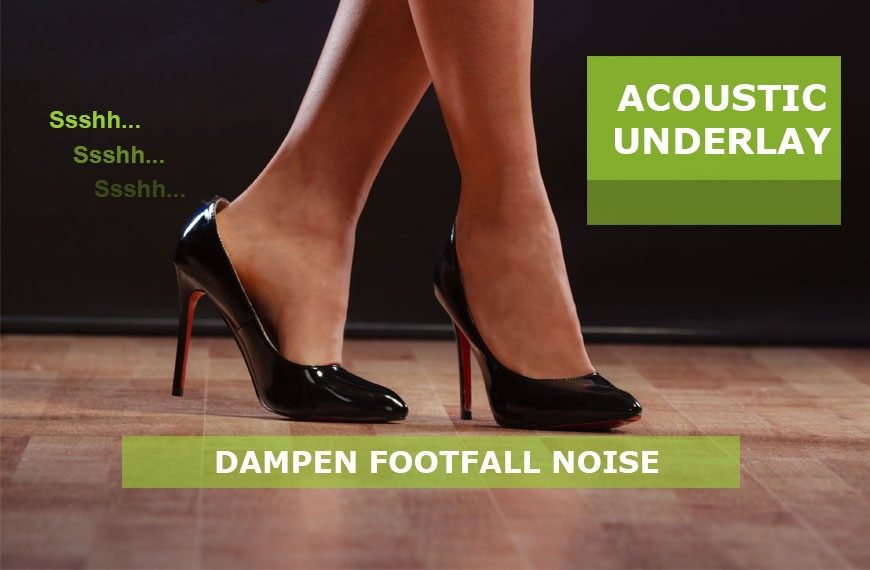 Regupol Acoustic Underlay heels on Timber Floor