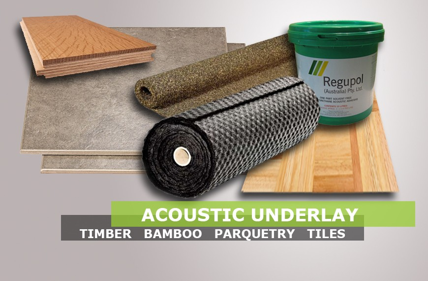 Acoustic Underlay for Timber bamboo parquetry and tiles