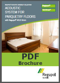 Acoustic Underlay 4515 9mm for parquetry flooring