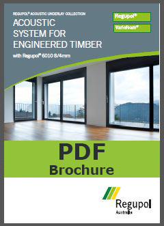 Brochure 6010 8-4mm Regupol acoustic underlay for timber, laminate and bamboo