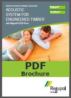 Brochure K225-5mm Regupol acoustic underlay for engineered timber