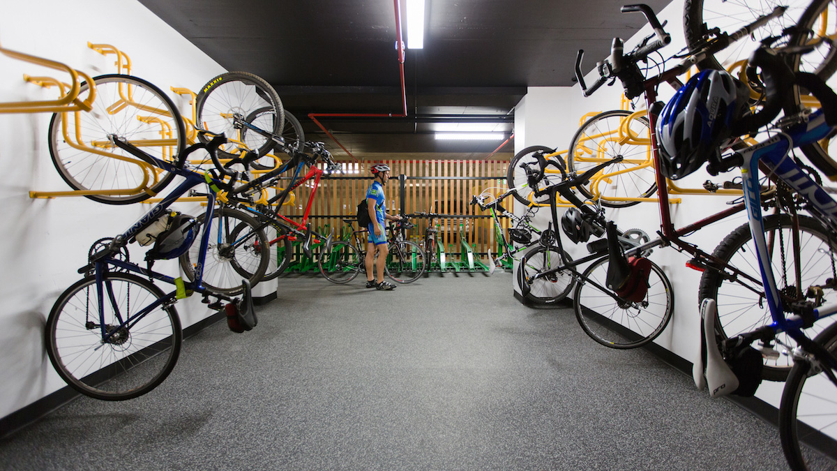 Bike storage at end of trip facility