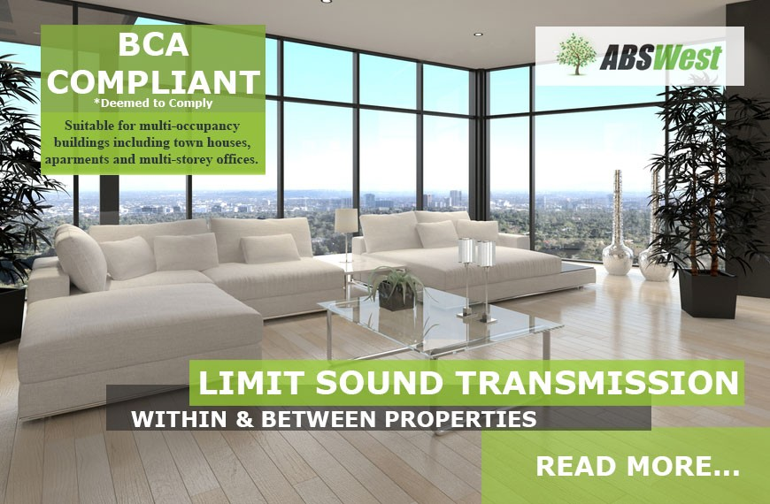BCA Compliant Acoustic Underlay in apartments, townhouses and offices